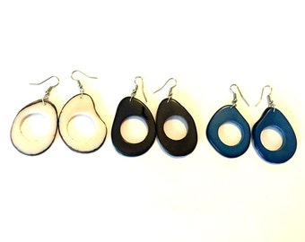 Tagua Nut Earrings, Boho Jewelry, Bohemian Accessories, Summer Fashion