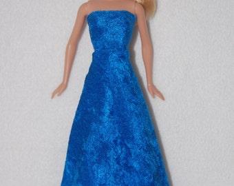 Barbie doll long dress - Blue- A4B040