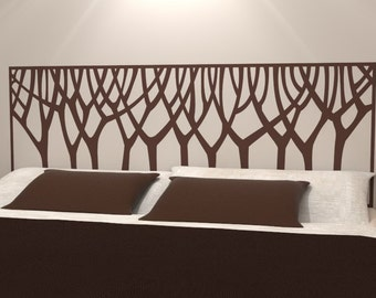 Nouveau Style Trees Headboard Decal | Vinyl wall sticker bed head | Nature Home Decor | FREE SHIPPING