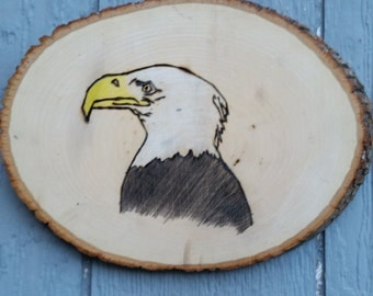Majestic Eagle Ready to Hang Wood Burning- Ready to Hang Wood Burning- Wood Burning- Majestic Eagle Wood Burning- Eagle Wood Burning- Eagles
