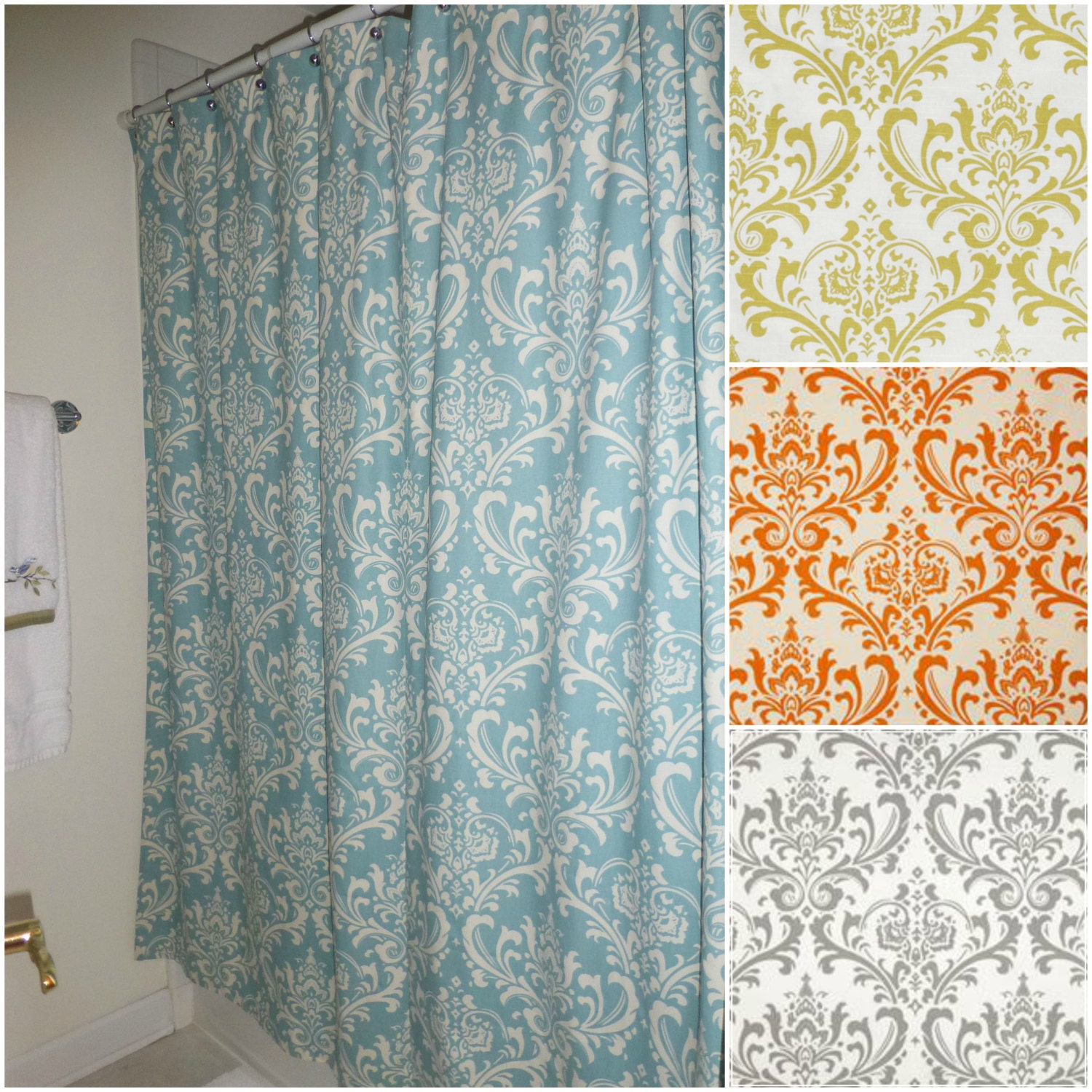 custom made shower curtains fabric shower by