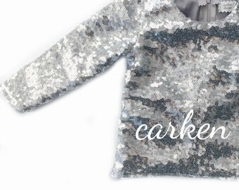 sparkle sequin long sleeve top t shirt baby toddler girl formal birthday holiday photoshoot flowergirl wedding gold black pink blue