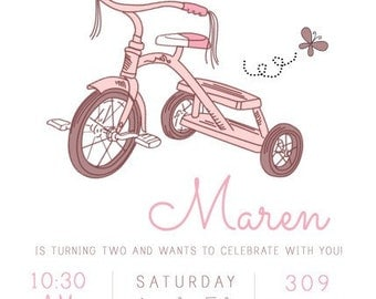 Vintage Tricycle Invitation