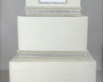 Wedding Money Box Monogram Classic Wedding Card Holder Wedding Card Box Gift Card Box Secure Lock