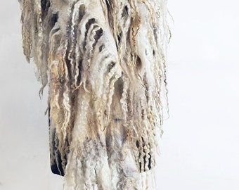 """Scarf felted """"Arina"""" female (women's felted scarves)"""
