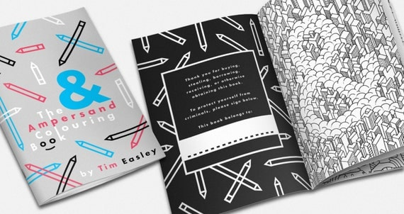 The Ampersand Colouring Book - Adult colouring book, kids colouring book, coloring book, adult coloring book, kids coloring book, relaxation