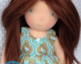Waldorf doll, waldorf inspired doll, cloth doll, handmade waldorf doll, steiner doll, fabric doll, soft doll, organic waldorf doll