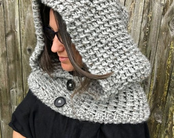 Knitting Pattern ~ Dawn Hooded Cowl ~ Knitting Pattern