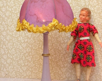 Vintage standing lamp for dollhouse larger scale