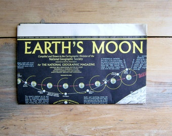 Vintage Earth's Moon Map