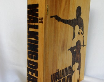Walking Dead Rick Michonne Darryl Carl Silhouette Book Box