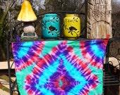Tie Dye Bandana, Hippie Room Decor, Tie Dye Wall Hanging, Burning Man Bandana, Festival Bandana, Festival Tie Dye, College Decor, Tie Dye