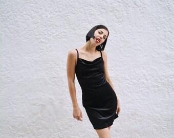 90s Velvet Sparkle Mini Dress