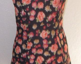 Vintage Chemise Nightgown Semi Sheer Victoria's Secret Crown Label XS