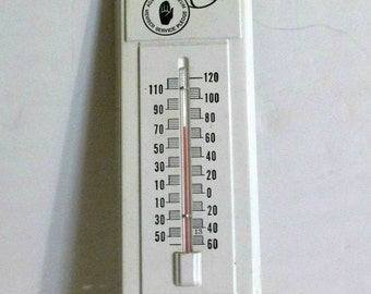 """Advertising Thermometer, Agway Petroleum Metal Thermometer, Industrial Decor, Slogan""""Go the Extra Mile"""", Wall Hanging"""