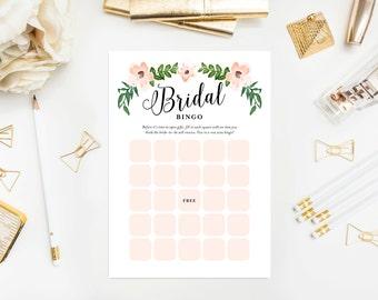 Instant Download - Romantic Vines Bridal Bingo Game Cards