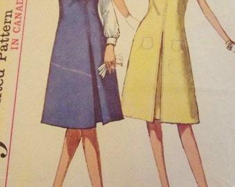 Vintage Dress Pattern, 60s Vintage Dress, Inverted Front Pleat, Jumper, Blouse, Size 16 Bust 36, Simplicity 5393, Mad Men