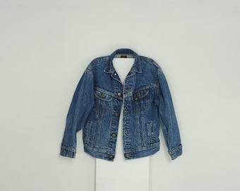 Vintage 80's Lee Blue Stone Wash Denim Jacket, Youth size M