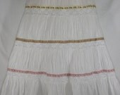Girls BOHO Skirt  - Gypsy Clothing - Altered Couture - GIRLS Medium