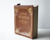 Jane Austen Leather Book Bag Brown Leather Book Purse