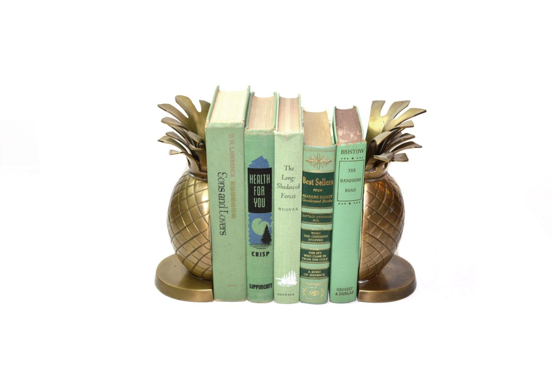 Serre livres de laiton ananas serre livres or par judysjunktion