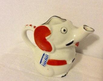 Elephant Creamer Hand Painted Trico Vintage Mini