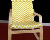 IKEA POÄNG Cushion Slipcover - Yellow Chevron