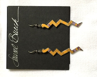 Laurel Burch SERPENTINE Earrings - Retired Design and Discontinued Jewelry Line - Snake Earrings - Vintage