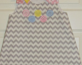 Cute As A Button Birthday A-line Dress Bloomer Set 1st Birthday