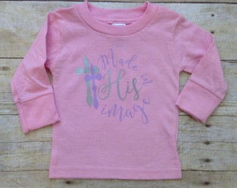 Made in His Image girls pink long sleeve shirt