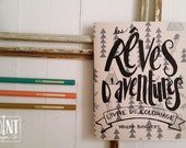 Mini Colouring Book - Rêves D'Aventures - Dreaming of Adventure - En Français - Colouring for adults - made in Montreal - wholesale