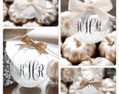 Baby's First Christmas, Monogrammed Ornament, Custom, Personalized Ornament, Monogram Christmas Ornament, wedding gift, newlywed gift