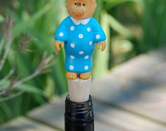 Mama Bear Berenstain Bears Wine Bottle Stopper