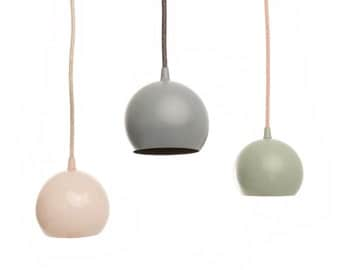 Modern Pendant Light - steel powder coated shade