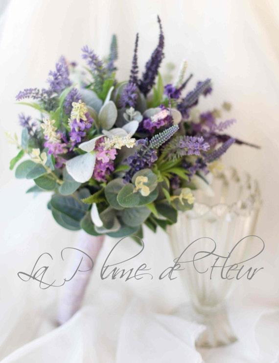 bouquet de mariage lavande en fleurs sauvages bouquet de. Black Bedroom Furniture Sets. Home Design Ideas