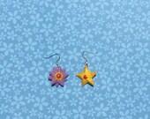 Reserved  - Staryu Starmie Pokemon Jewelry Earrings