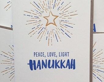 Hanukkah Cards / Hanukkah Holiday Cards / Letterpress Hanukkah Cards - Chanukkah Cards / Star of David / Holiday Cards / Hanukkah Greetings