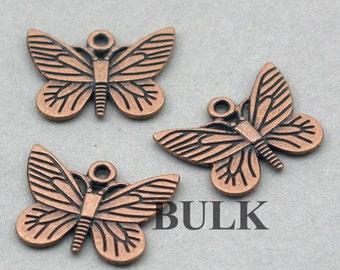 Butterfly Charms BULK order Antique Copper 30pcs zinc alloy pendant beads 16X22mm CM0412H