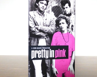 Pretty in Pink VHS Collectible Cover Art Pink MOlly Ringwald 1991