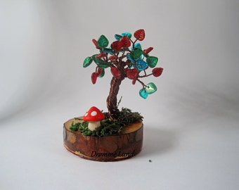 The Tree And The Toadstool (Decorative OOAK Autumn Tree Sculpture)