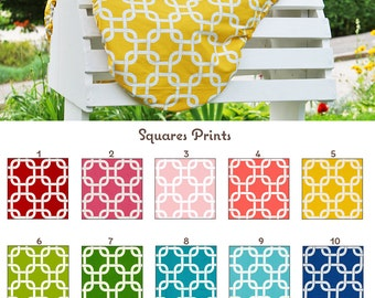 MADE TO ORDER Squares Reversible Saddle Cover Many Colors