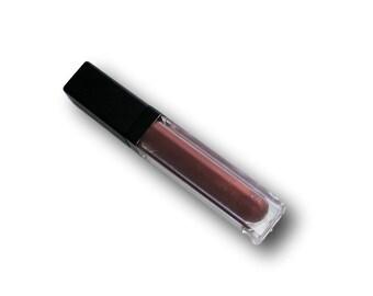 Matte  Intense Red Copper Liquid Lipstick Long Wearing Smugeproof Vegan Mineral Makeup Lip Stick Metallic Red Cat Call