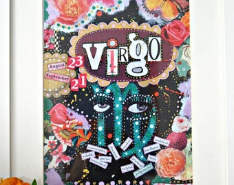 Vibrant and offbeat Virgo art print