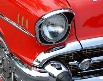 Classic Red Chevy Photograph poster