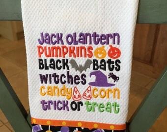 Halloween Kitchen Towel with Wordart