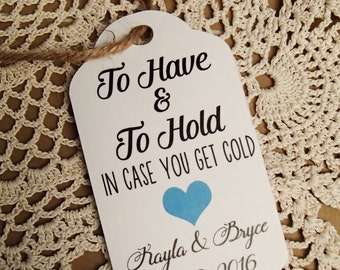 To Have and To Hold, Gift Tags, Wedding, Blanket, Throw, Scarf, Gloves, Mittens, Tags, Weddings, Bridal Shower, Winter Wedding, Favour Tags