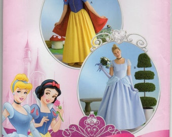 Disney Princess Dress Queen Gown Size 6 8 10 12 Adult Costume Sewing Pattern 2013 Simplicity 2813
