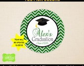 Graduation Favor Stickers - Personalized Graduation Stickers - Custom Graduation Stickers - Class of 2016 - Digital and Printed