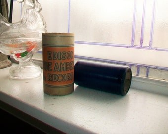 Antique Edison Cylinder Record 3116 Mammy's Little Coal Black Rose by M Romain Blue Amberol Phonograph Record