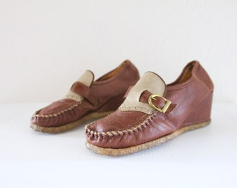 c1970's Wedge Loafers 7 See Details